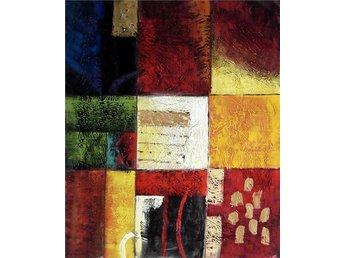 Abstrakt, oljemålning på duk, 50x60 cm - Tollarp - Abstrakt, oljemålning på duk, 50x60 cm - Tollarp