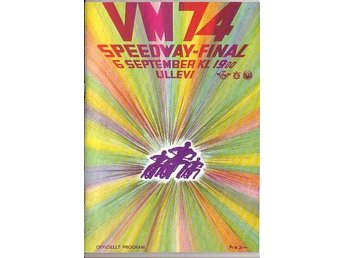 Speedwayprogram. VM-final Ullevi 1974.