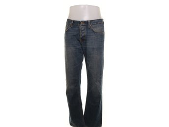 Nudie Jeans, Jeans, Average Joe, Strl: 34/34, Blå
