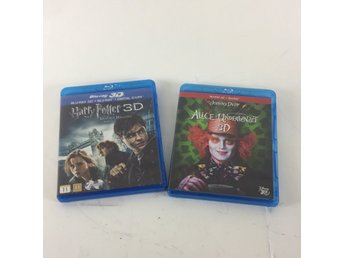 Blu-Ray Disc, Blueray-Filmer, Harry Potter, Alice i underlandet