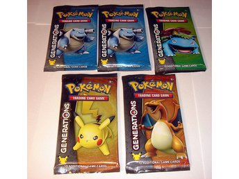 PAKET 5 st POKEMON  GENERATIONS