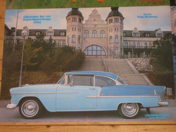COLOROD Affischer Chevrolet 1955 Ford 1956 Thunderbird 1977 Hot Rod VW Buss