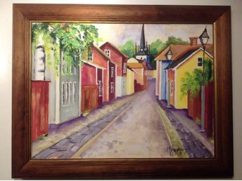 Arboga tavla M Skogsberg akvarell 37x47 - Arboga - Arboga tavla M Skogsberg akvarell 37x47 - Arboga
