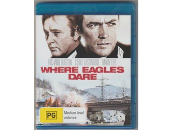 WHERE EAGLES DARE BLU-RAY DVD AUSTRALIAN IMPORT SVENSK TEXT CLINT EASTWOOD