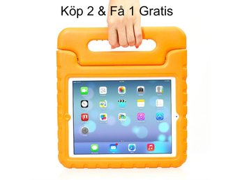 iPad Air 2/iPad 6  - Kids Shockproof Stand Case Cover/Kids Friendly Case -Orange