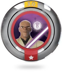 GALACTIC TEAM UP MACE WINDU Power Disc Star Wars - Disney Infinity 3.0
