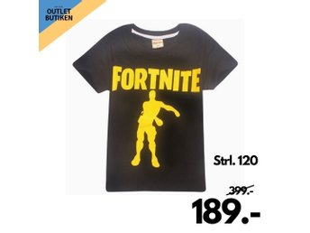 Fortnite T Shirt, svart, battle royale, tisha, Storlek 120, dabbar