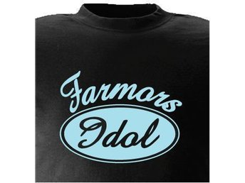 T-SHIRT Farmors Idol nr 35  80cl  1-3år Svart