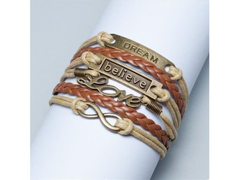 FRI FRAKT! Armband med Love, Believe, Dream!