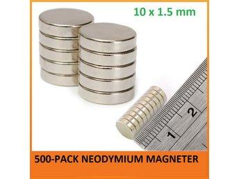 500-pack 10x1.5 mm Superstarka Neodymium Magneter - Magnet/ndfeb/neo/N35 - Hong Kong - 500-pack 10x1.5 mm Superstarka Neodymium Magneter - Magnet/ndfeb/neo/N35 - Hong Kong