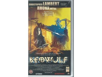 BEOWULF - CHRISTOPHER LAMBERT  (DANSK TEXT!-VHS FILM !!)