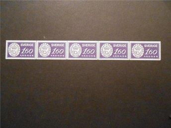 F 1285** Postsparande 100 år. Postfriskt 5 strip. - Uddevalla - F 1285** Postsparande 100 år. Postfriskt 5 strip. - Uddevalla