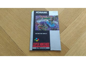Super Nintendo/SNES: Manual (SCN/svensk) till Turtles in Time
