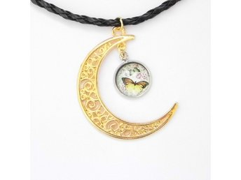 Fjäril Måne Halsband / Butterfly Moon Necklace