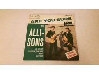 The Allisons - Are You Sure (Endast Omslag)