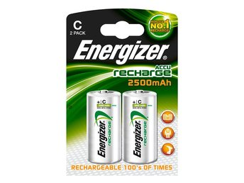 Energizer Laddningsbara NiMH-batteri C 1.2 V Power Plus 2500 mAh 2-Blister