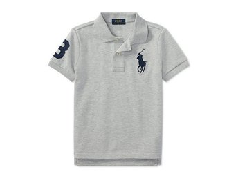 RALPH LAUREN POLO Grå (Andover Heather) Pike, Stl. Ungdom XL, ca. 170, NY!!