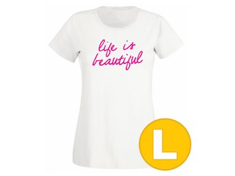 T-shirt Life Is Beautiful Vit Dam tshirt L