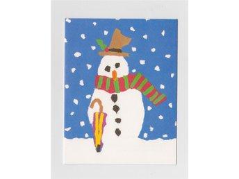 Kuvertkort dubbelt - signerat Deborah Phillips- Snögubbe, Fred snowman ESQ - Kungsör - Kuvertkort dubbelt - signerat Deborah Phillips- Snögubbe, Fred snowman ESQ - Kungsör