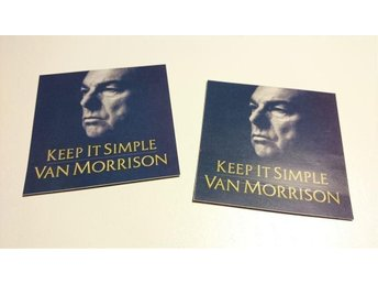 VAN MORRISON, KEEP IT SIMPLE, 2 ST. PROMOSTICKERS, FRAKT 14:-