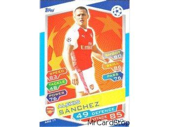 2016-17 Topps Champions League ARS17 Alexis Sánchez Arsenal - Linghem - 2016-17 Topps Champions League ARS17 Alexis Sánchez Arsenal - Linghem