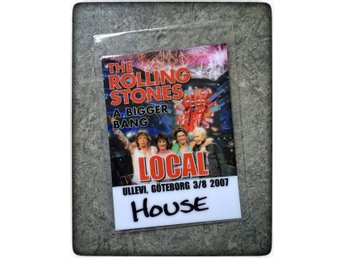 Rolling Stones 2007 Backstage pass A Bigger Bang Göteborg Ullevi RARITET Local