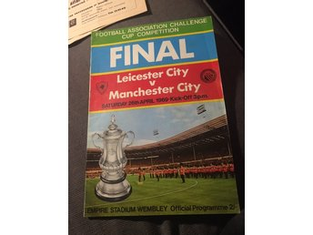 FOTBOLL Matchprogram FA Cup Final 26/4 1969 Manchester City v Leicester City
