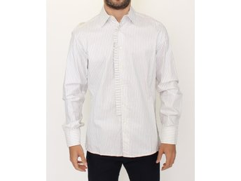 Ermanno Scervino - White Striped Cotton Formal Dress Shirt