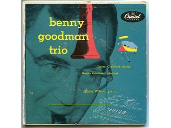 "Benny Goodman Trio DUBBEL 7"" 8 låtar US press 1952"