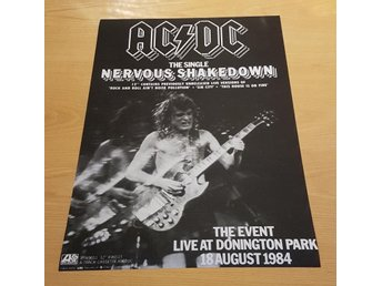 ACDC NERVOUS SHAKEDOWN 1984 POSTER