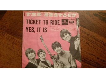 Beatles,single,Denmark,ticket to ride