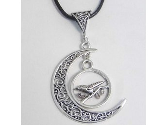Fågel måne halsband / Bird moon necklace