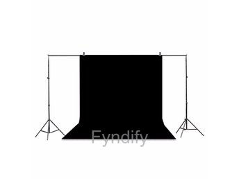 Fotobakgrund Background Screen Svart 1.6m x 3.0m