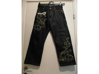 Jeans med guld tryck MJ Collection Size 12