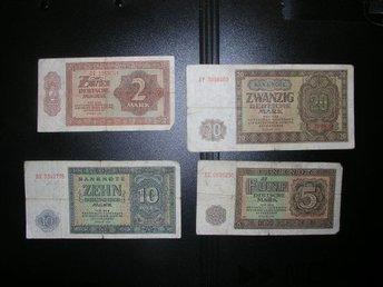 1948 Deutschland DDR 2, 5, 10 och 20 mark P-10,P-11,P-12,P-13 Tyskland g5154nvc - Estonia Estland - 1948 Deutschland DDR 2, 5, 10 och 20 mark P-10,P-11,P-12,P-13 Tyskland g5154nvc - Estonia Estland
