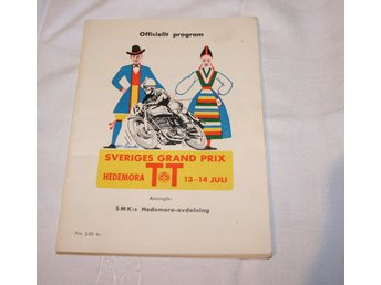 SVERIGES GRAND PRIX HEDEMORA TT. PROGRAM. 1956