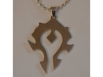 The Horde Stilren fr. World of Warcraft, Logo/Symbol Halsband (Metall) Ny