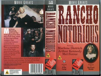 Rancho Notorious av Fritz Lang med Marlene Dietrich /Video C