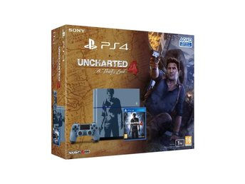Playstation 4 (PS4) Basenhet - 1TB Uncharted 4 Limited Edition