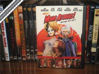 MARS ATTACKS (Snap Case) - Jack Nicholson *UTGÅNGEN DVD* - Svensk text - åmål - MARS ATTACKS (Snap Case) - Jack Nicholson *UTGÅNGEN DVD* - Svensk text - åmål