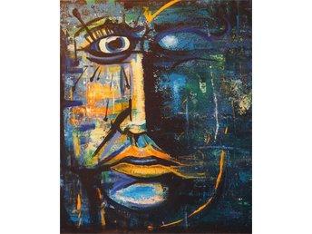 Abstrakt porträtt målat med akryl, - Tyresö - Abstrakt porträtt målat med akryl, - Tyresö