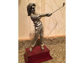 Ny Trofé pris golf dam silver på sockel 21 cm - Mora - Ny Trofé pris golf dam silver på sockel 21 cm - Mora