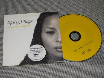Mary J Blige - All that I Can Say CD Singel (pappfodral)