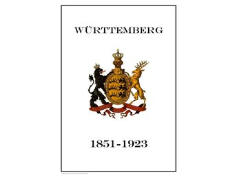 Württemberg German State 1851-1923  PDF DIGITAL  STAMP  PAGES INGA FRIMÄRKEN!!