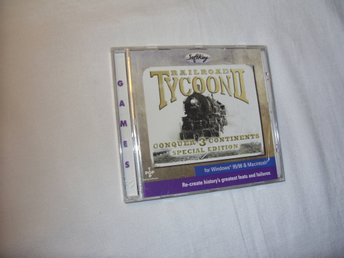 Railroad Tycoon II Conquer 3 Continents Special Edition Mac & PC CD ROM