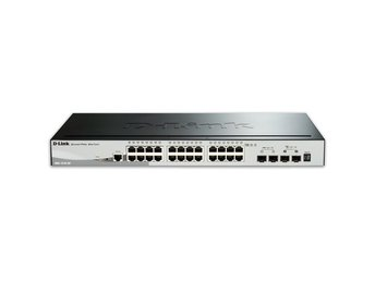 D-Link Gigabit SmartPro switch, 24xRJ45, 4x10G SFP+, metall, 1U, 19""
