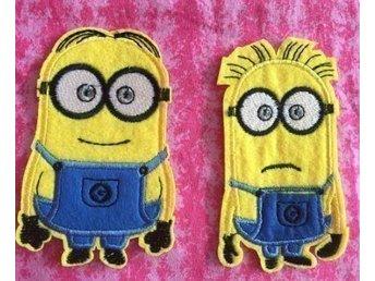 2 st Minions gula små hjältar stryka på tyglappar iron on sy på dekorera laga - Skogås - 2 st Minions gula små hjältar stryka på tyglappar iron on sy på dekorera laga - Skogås