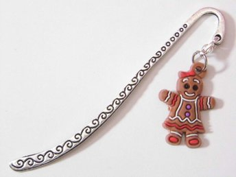Pepparkaksgubbe bokmärke / Gingerbread man bookmark