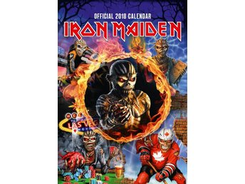 IRON MAIDEN - Officiell 2018 Kalender - Ny - Ord Pris 159kr