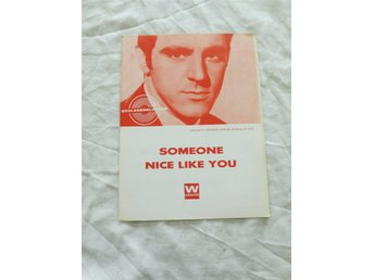 Gammalt notblad. Schlagerklubben. SOMEONE NICE LIKE YOU/ANTHONY NEWLEY Decca LK.